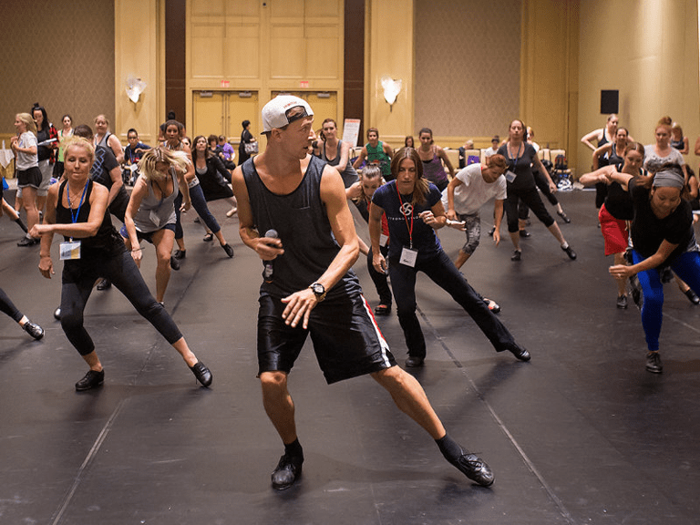 Tim Fournier teaching tap at the DanceLife Teacher Conference